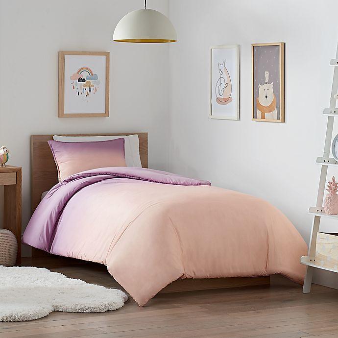Alternate image 1 for UGG® Devon Ombre 3-Piece Reversible King Comforter Set in Sherbet