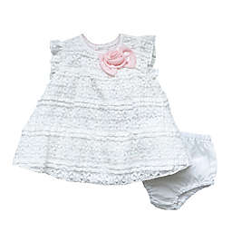 Clasix Beginnings™ by Miniclasix® Size 24M Lace Dress and Panty Set in Ivory