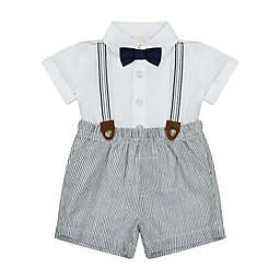 Clasix Beginnings™ by Miniclasix® Size 9M 3-Piece Shirt, Short and Suspender Set