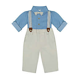 Clasix Beginnings™ by Miniclasix® Size 9M 3-Piece Shirt, Pant and Suspender Set