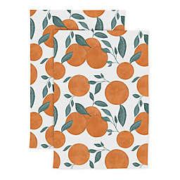 MÜ Kitchen Designer Print Orange Tree Kitchen Towels (Set of 2)