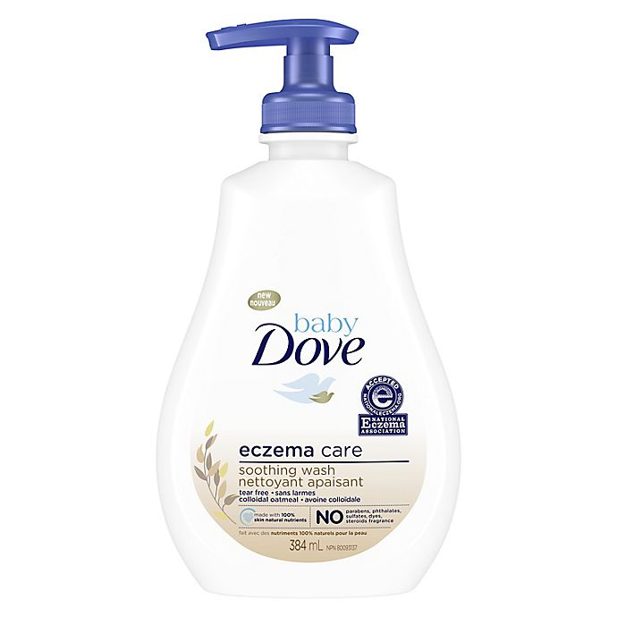 Alternate image 1 for Baby Dove 13 oz. Unscented Eczema Care Soothing Wash