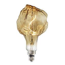 Bulbrite Grand Nostalgic 4-Watt Glacier LED Light Bulb in Amber