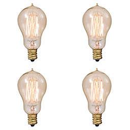 Bulbrite 4-Pack 25-Watt A15 Nostalgic Thread Incandescent Light Bulbs in Amber