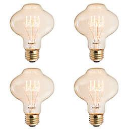 Bulbrite 4-Pack BT27 Nostalgic Loop 40-Watt Light Bulbs in Amber