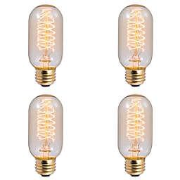 Bulbrite 4-Pack 40-Watt T14 Nostalgic Spiral Light Bulbs in Amber