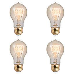 Bulbrite 4-Pack 40-Watt A19 Nostalgic Loop Incandescent Light Bulbs in Amber