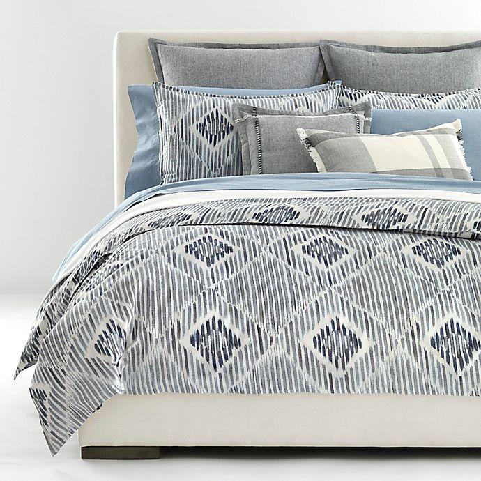 Alternate image 1 for Lauren Ralph Lauren Austin Diamond 3-Piece King Duvet Cover Set in Grey/Blue