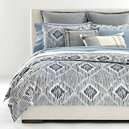 Lauren Ralph Lauren Austin Diamond 3-Piece Duvet Cover Set in Grey/Blue