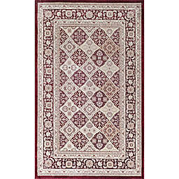 Rugs America Century Panel Area Rug in Red