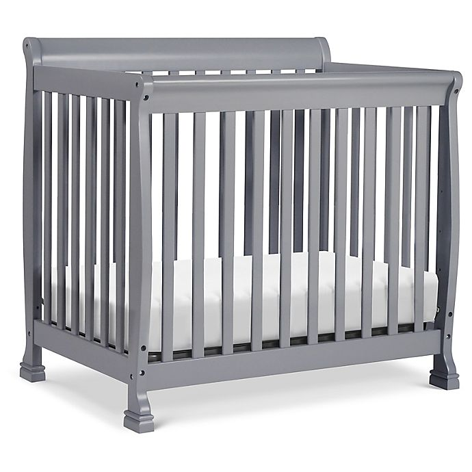 Alternate image 1 for DaVinci Kalani 4-in1  Convertible Mini Crib in Grey