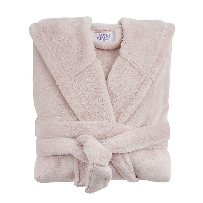 Alternate image 1 for Wild Sage™ Sadie Hooded Large/X-Large Bath Robe in Rosewater