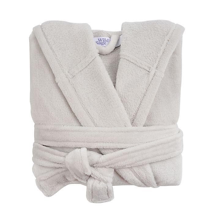Alternate image 1 for Wild Sage™ Sadie Hooded Large/X-Large Bath Robe in Lunar Rock