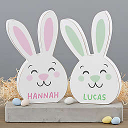 8-Inch Easter Bunny Wooden Shelf Decoration