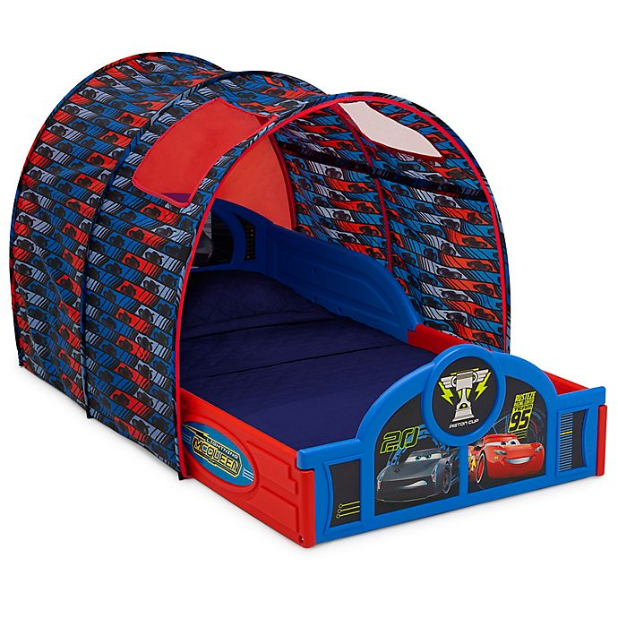 Alternate image 1 for Delta Children® Disney® Pixar Cars Sleep and Play Toddler Bed with Tent
