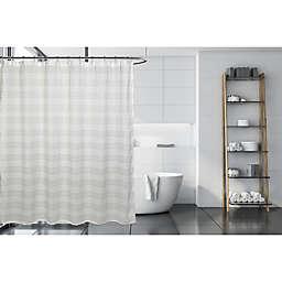 Moda 72-Inch x 72-Inch Gossamer Shower Curtain in White/Grey
