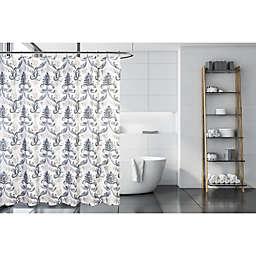 Moda Spencer 71-Inch x 71-Inch Slub Shower Curtain in Grey/Taupe