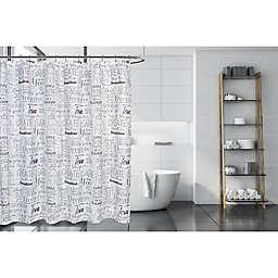 Moda 72-Inch x 72-Inch Positive Sayings Shower Curtain