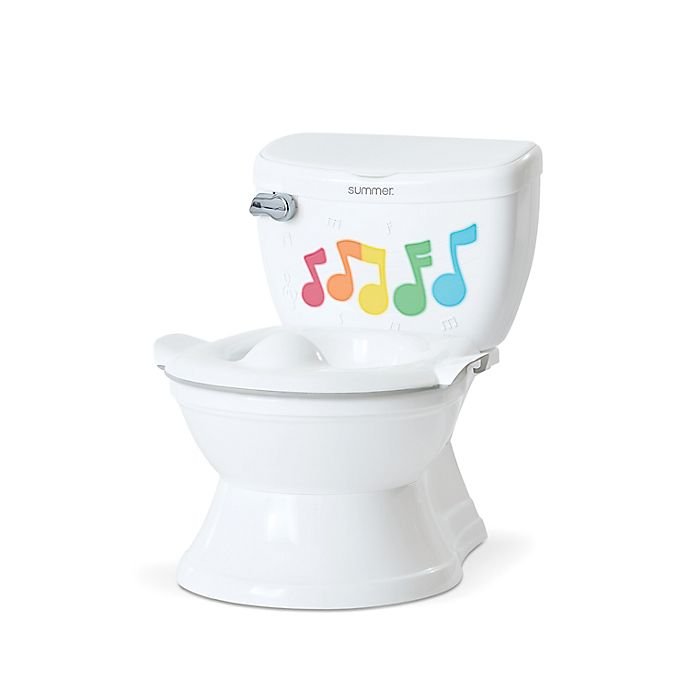 Alternate image 1 for Summer® My Size® Potty Lights and Songs Transitions  Training Potty in White