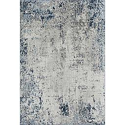 Rugs America Prescott Mottled Cerulean Area Rug in Grey