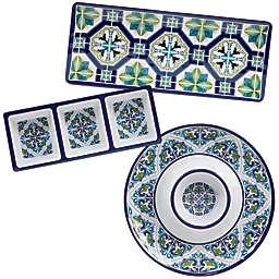 Certified International Mosaic 3-Piece Melamine Hostess Set