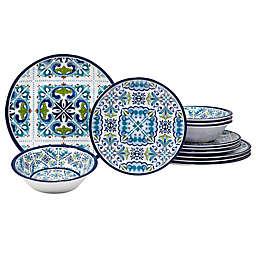 Certified International Mosaic 12-Piece Melamine Dinnerware Set