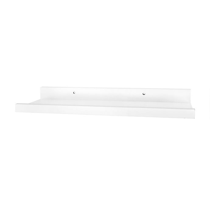 Alternate image 1 for Simply Essential™ Deep Ledge Wood Shelf in White
