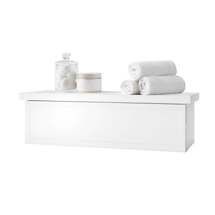 Alternate image 1 for Simply Essential™ Ledge Storage Shelf in White