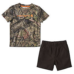 Carhartt® Size 24M 2-Piece Camo Short and Shirt Set in Mossy Oak