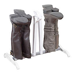 White 3-Pair Boot Stand