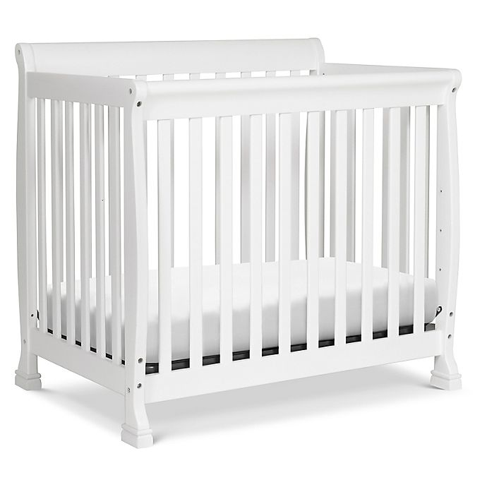 Alternate image 1 for DaVinci Kalani 4-in1 Convertible Mini Crib in White