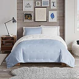 UGG® Devon Faux Sherpa 3-Piece Reversible King Comforter Set in Tahoe Blue Melange
