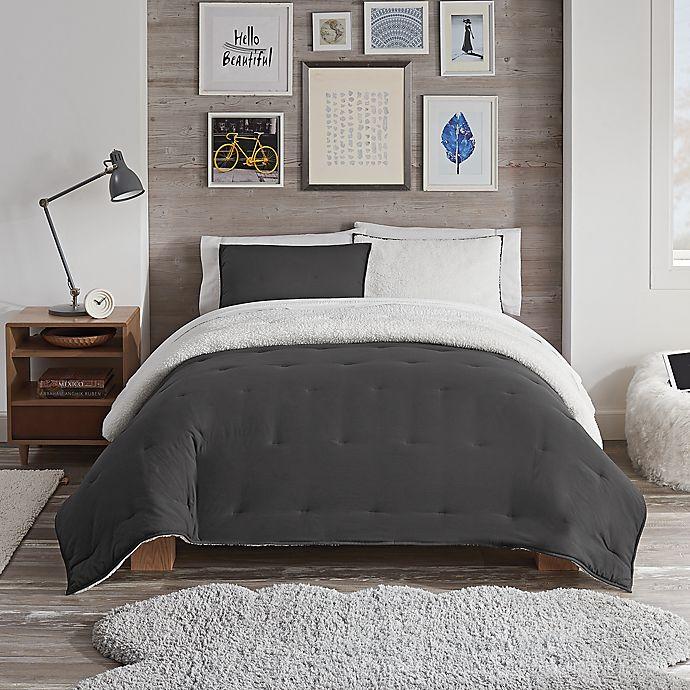 Alternate image 1 for UGG® Devon Faux Sherpa 2-Piece Reversible Twin/Twin XL Comforter Set