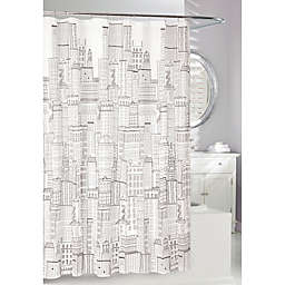 Moda at Home Downtown PEVA Shower Curtain