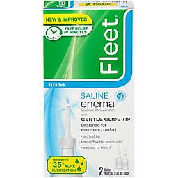 Fleet® 4.5 oz. Gentle Saline Adult Enema Twin Pack