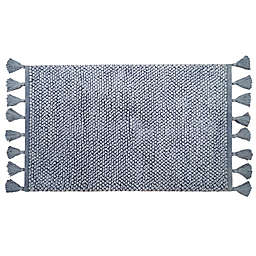"Bee & Willow™ Home Looped Fringe 21"" x 34"" Bath Rug in Blue"
