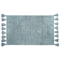"Bee & Willow™ Home Looped Fringe 21"" x 34"" Bath Rug in Mint"