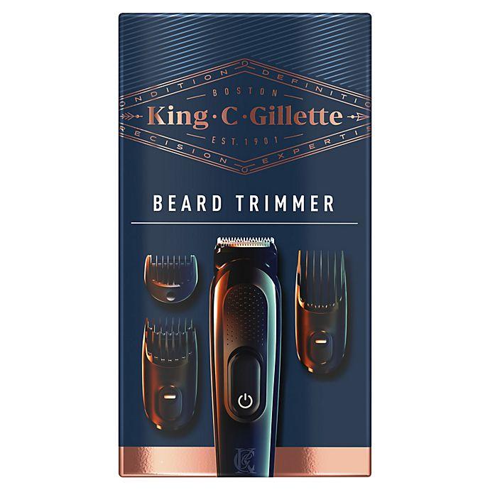 Alternate image 1 for King C. Gillette Cordless Men's Beard Trimmer Shave Set