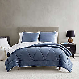 UGG® Avery 2-Piece Reversible Twin/Twin XL Comforter Set in Pacific Blue