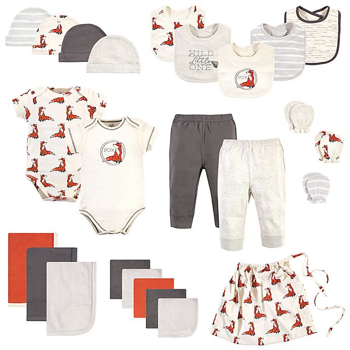 Alternate image 1 for Touched by Nature Size 0-6M 25-Piece Boho Organic Cotton Layette Baby Gift Set in Orange
