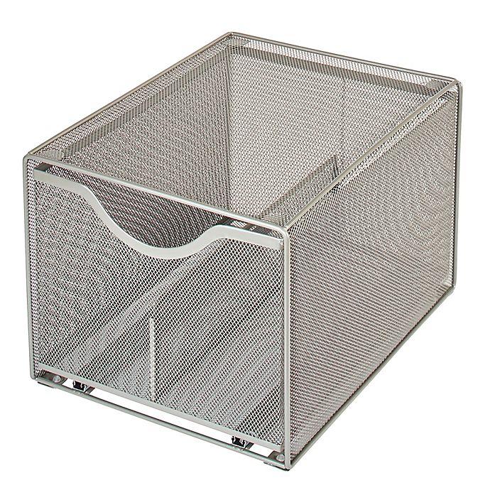 Alternate image 1 for Squared Away™ Large Metal Mesh Stacking Drawer