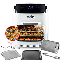 Aria 10 qt. Air Fryer Oven with Accessory Set in White