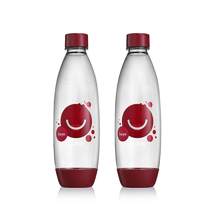 Alternate image 1 for SodaStream® 2-Pack Bubly Cherry Carbonating Bottles