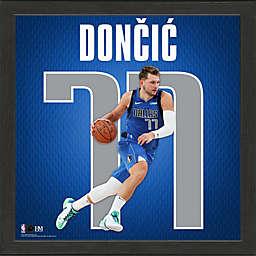 NBA Dallas Mavericks Luka Doncic Impact Jersey Framed Photo