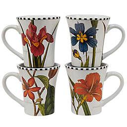 Certified International Botanical Floral Mugs (Set of 4)