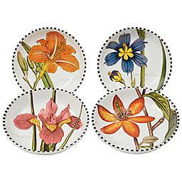 Certified International Botanical Floral Soup/Pasta Bowls (Set of 4)