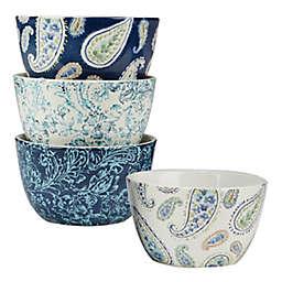 Certified International Bohemian Blue Ice Cream Bowls (Set of 4)