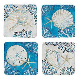 Certified International Playa Shells Canape Plates (Set of 4)