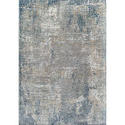Rugs America Milford Hill Castle Area Rug in Stone/Blue