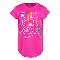 Nike® Girl Power Short Sleeve Shirt in Pink